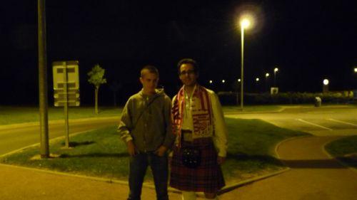 Reun Junionr & Reun JEZEGOU in kilt tartan Royal Stweart