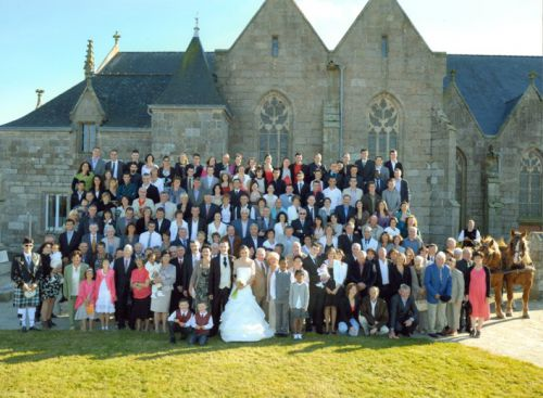 general photograph of married and all the guests