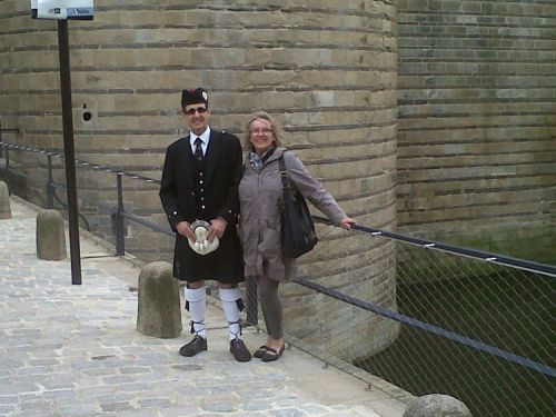 Dominique CORONER et Reun JEZEGOU au château des ducs de Bretagne à Nantes (44)
