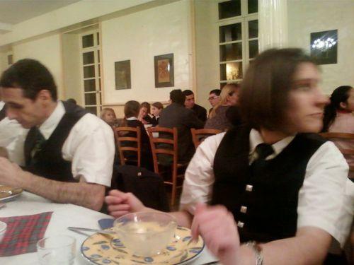 Repas (Haggys) lors de la Burn's Night au Collège International de Chavagne en Pailler (85)