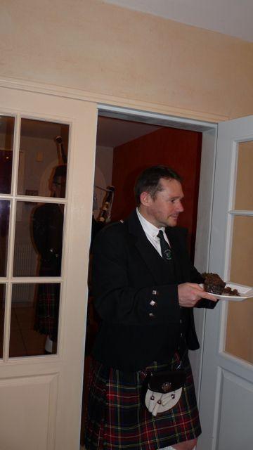 Après la dégustation de whisky, dinet chez Roland avec la dégusation du Haggis