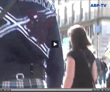 Capture d'une vidéo, moi de dos avec mon polo Scotland