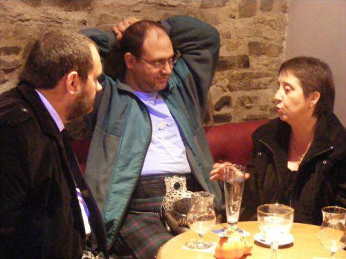 Eric, Stéphan et Madame le Président de la Kilt Society de France