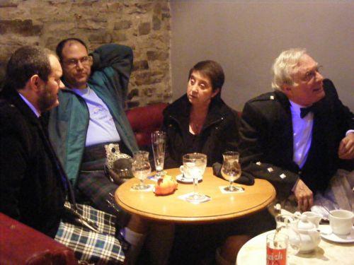 Eric, Stéphan, Madame et Monsieur le Président de la Kilt Society de France