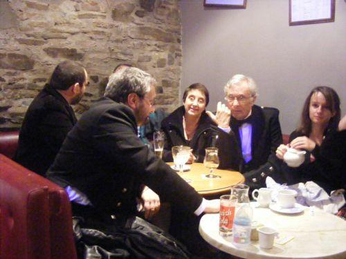 Eric, PEB, Madem et Monsieur le Président de la Kilt Society de France, et Esther
