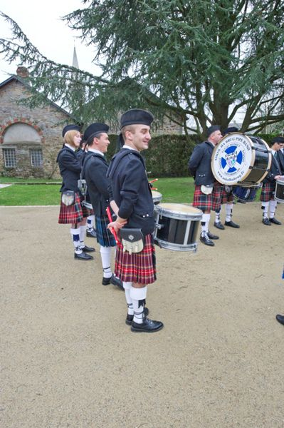 Sullivan as Leader Drummer of Askol Ha Brug Pipe Band