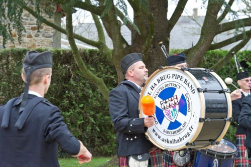Thierry C. as Drummer of Askol Ha Brug Pipe Band