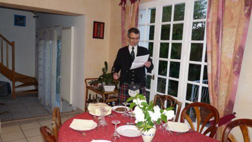 Roland récitant le poème de Robert Burns