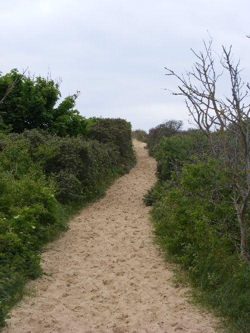 Tout le parcours est balisé, et....fait de sable