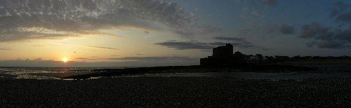Panorama d'Ambleteuse au crepuscule
