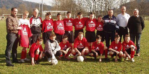 US Oberbruck-Dolleren. 13 ans. Champions de groupe saison 2007-2008 (photo USOD)