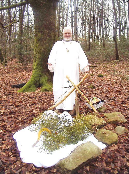 ~  An Drouiz Dwrdan- Le Druide ///Dwrdan au Solstice d'Hiver en Brocéliande~