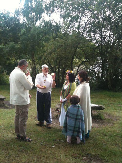~Mariage Elisabeth et Jean-Pierre~ -rituel de la pomme et commentaire du druide!-