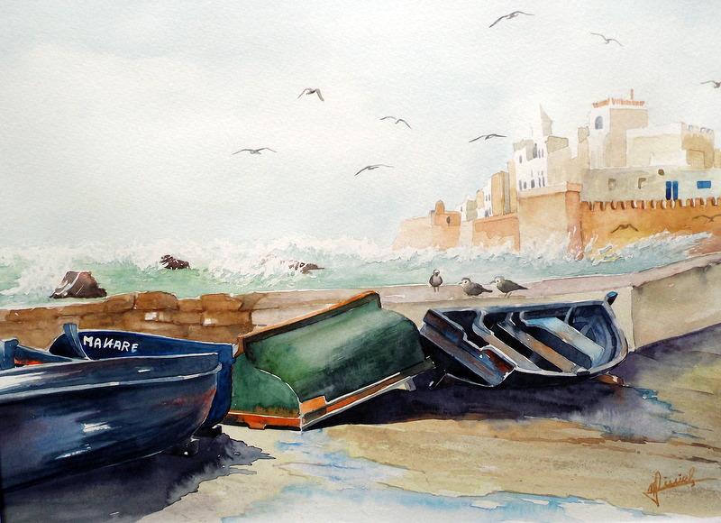 les barques d'Essaouira..JPG