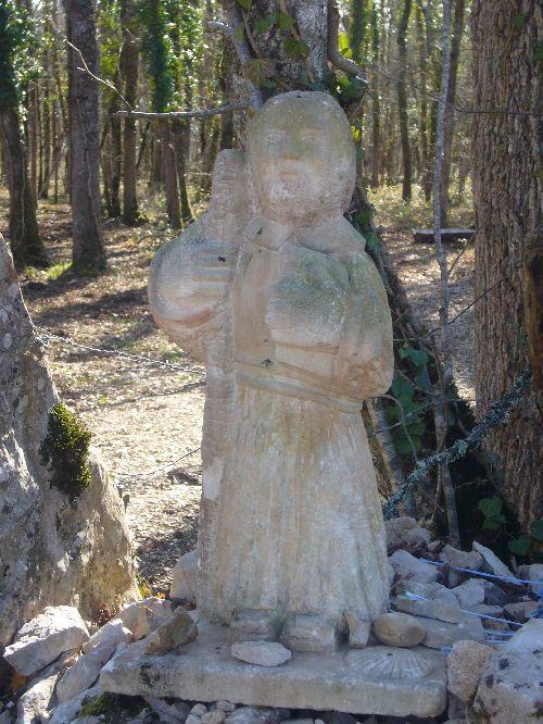 Statue de Saint Jacques, près de Bach
