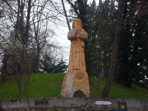 Statue de Saint Jacques, à la sortie du Puy en Velay