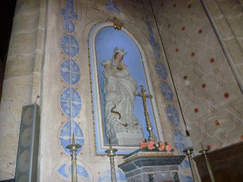 Vierge et l'enfant à l'église de Marsolan