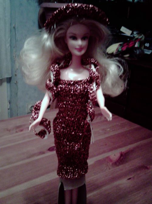 barbie habillee par mes soins