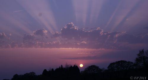 Couché de soleil du 9 Avril 2011 (Bretagne)