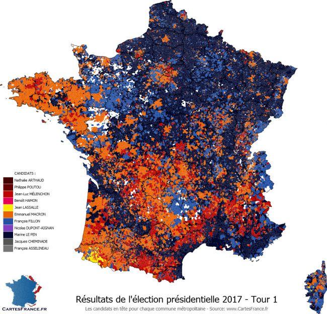 Cartographie présidentielle 2017