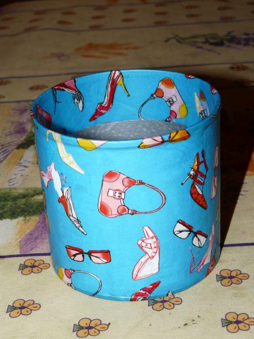 Pot à crayon en décopatch