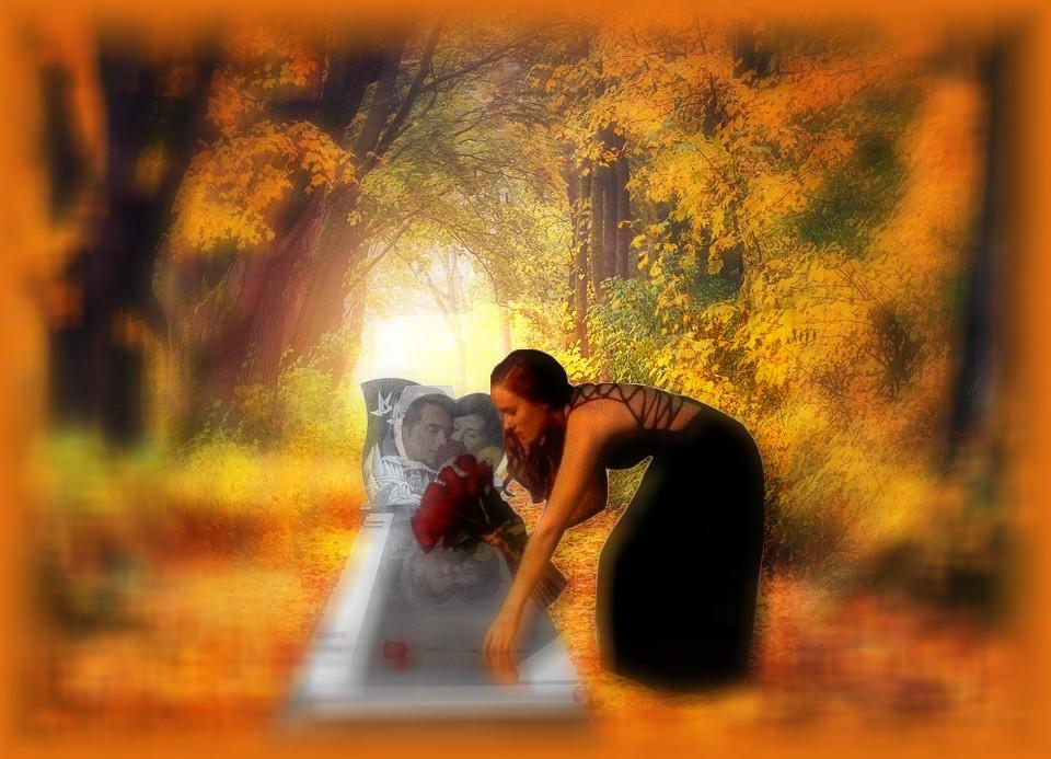 Femme qui dépose une rose sur une tombe 2.jpg