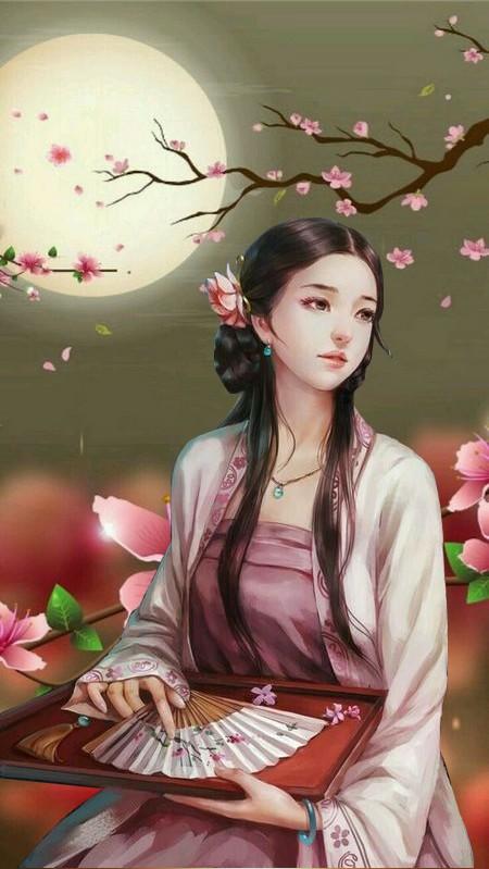 Jeune japonaise au clair de lune.jpg