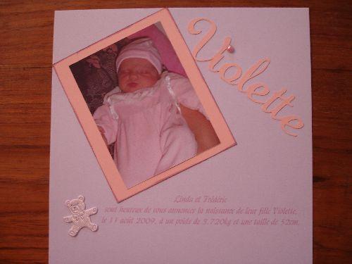 Annonce naissance 1