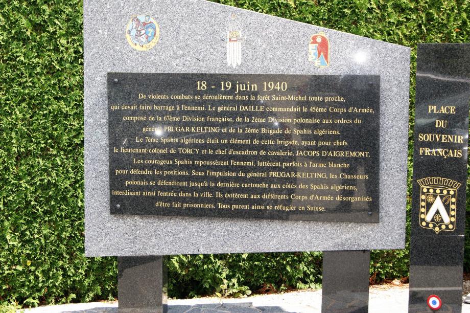 Monument érigé à Maîche (Doubs) (Cliquer sur l'image pour agrandir)