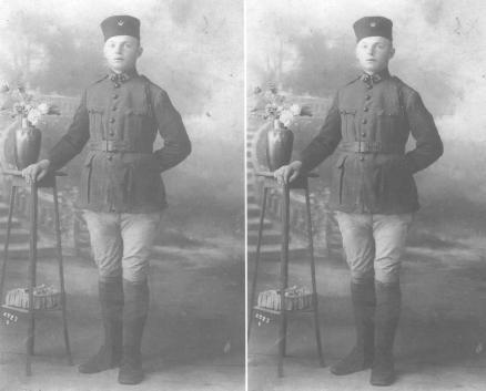 ROSE Victor en uniforme de zouave