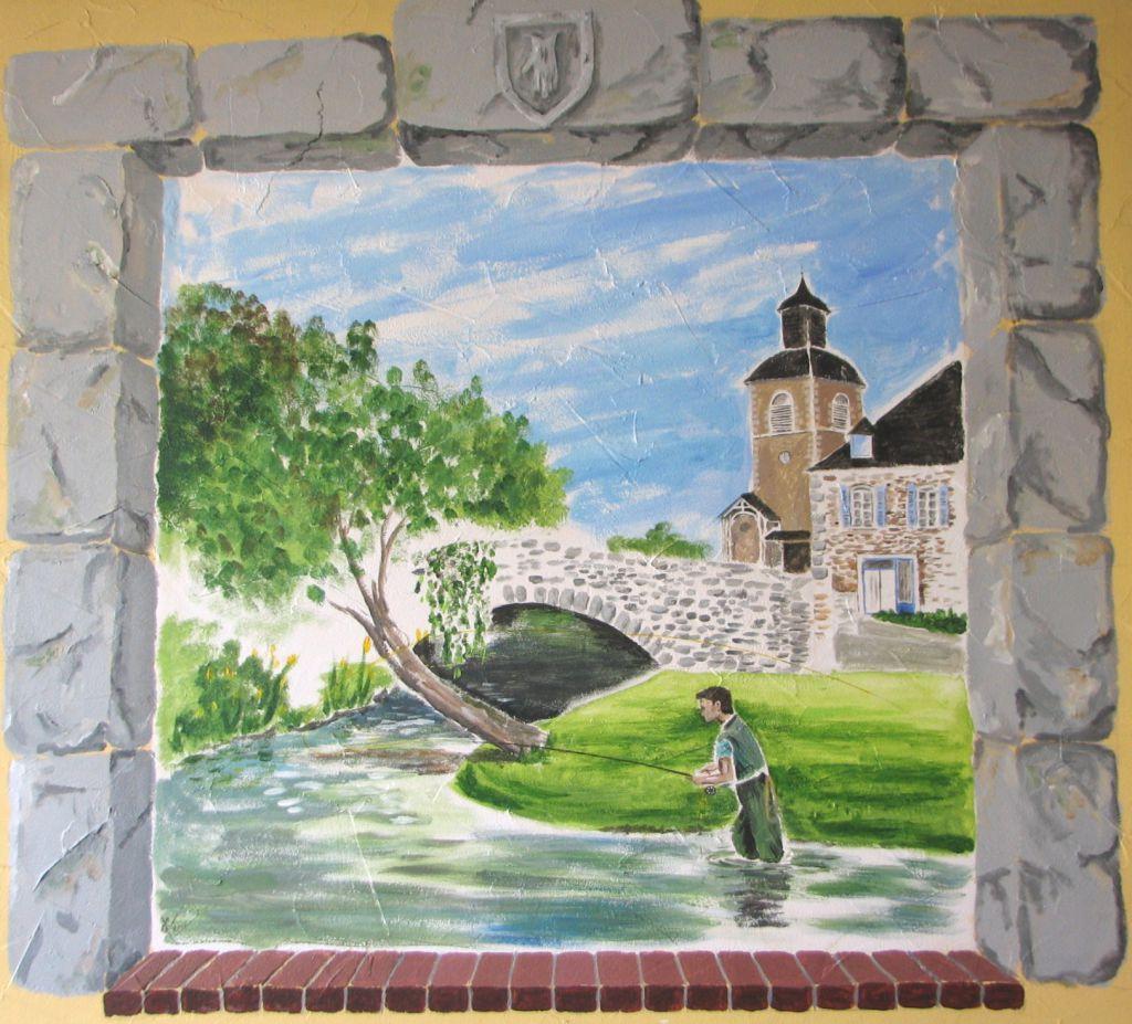 Mes fresques murales et restaurations d 39 horloges le coup d 39 oeil d 39 yves coup - Le bistrot d yves ...