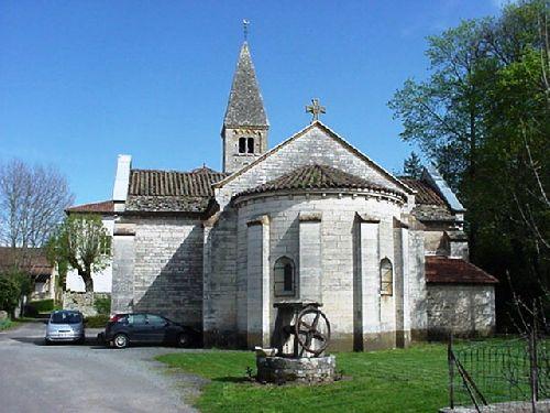 L\'église, place du village