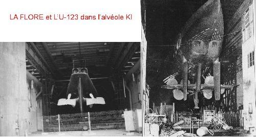 LA FLORE et L'U-123 dans l'alvéole K I