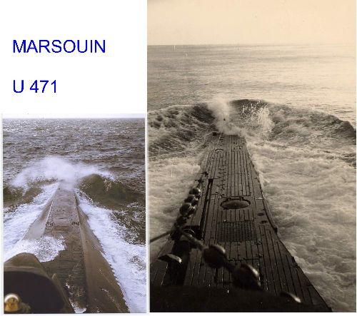 LE MARSOUIN et L'U-471 ...