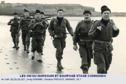 photos légendées du stage commando dans la lande Bretonne.