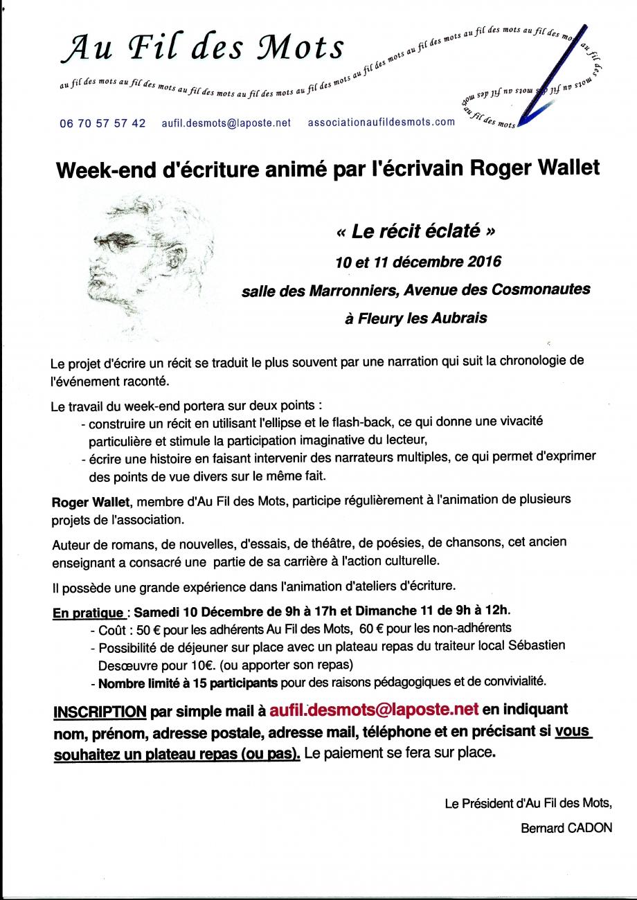 Scan Affiche Week-end d'écriture animé par l'écrivain Roger Wal.jpg