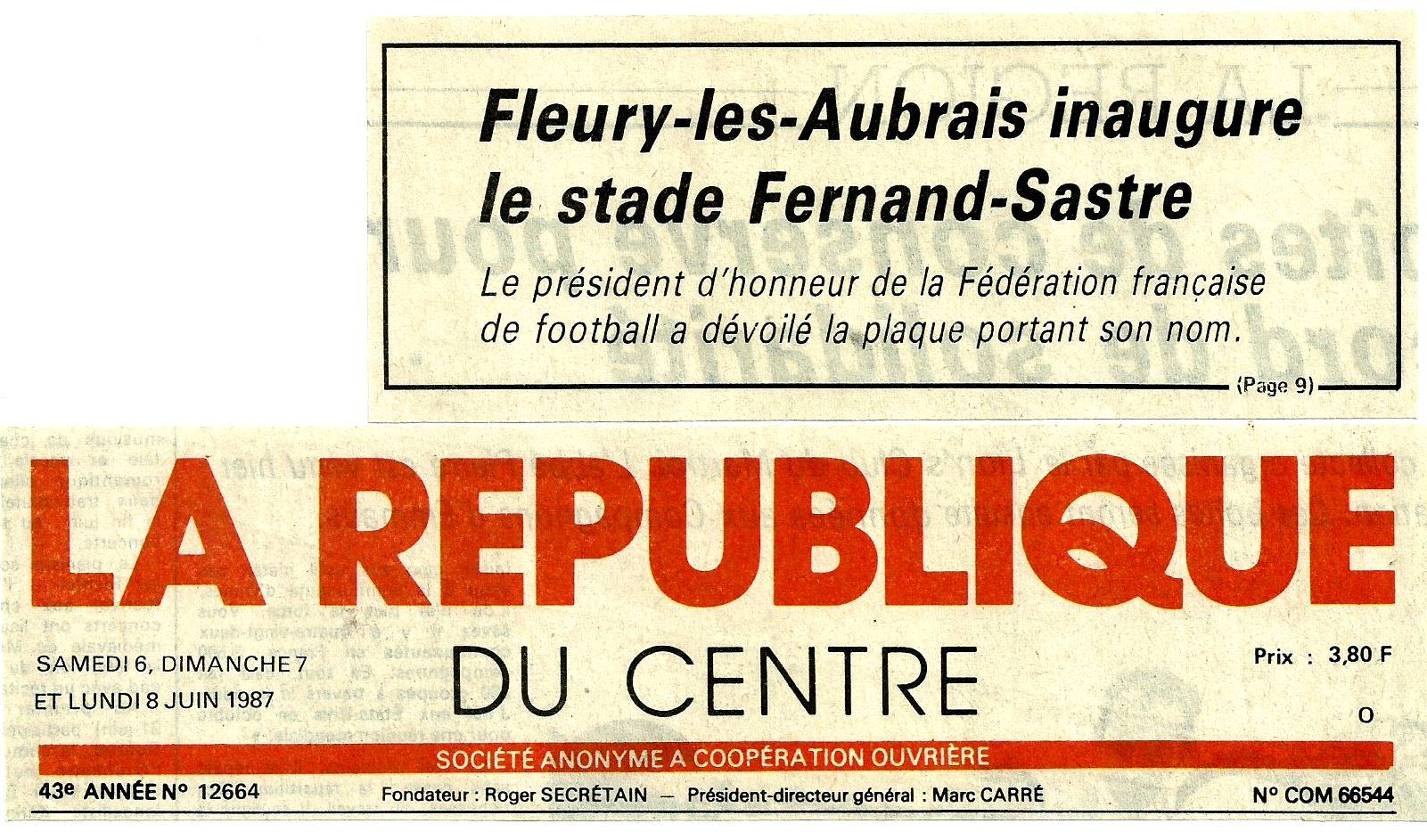 Scan Fleury les Aubrais inaugure le stade Fernand-Sastre N°1 (6.jpg