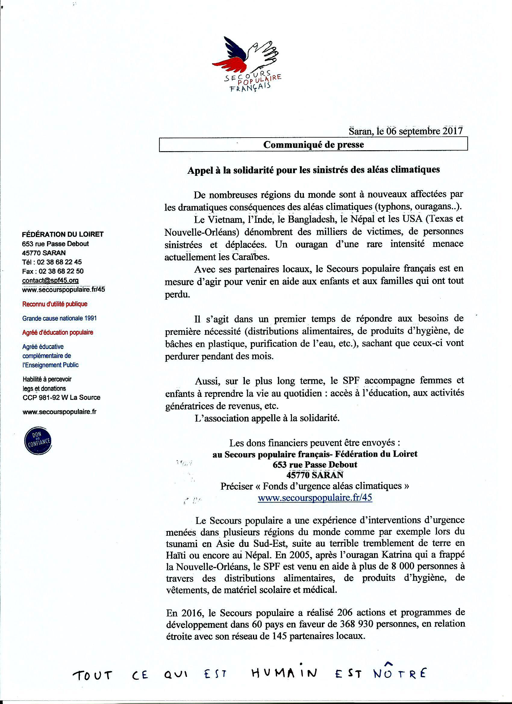 Scan Communiqué de presse Secours Populaire Français 45 (06.09.jpg
