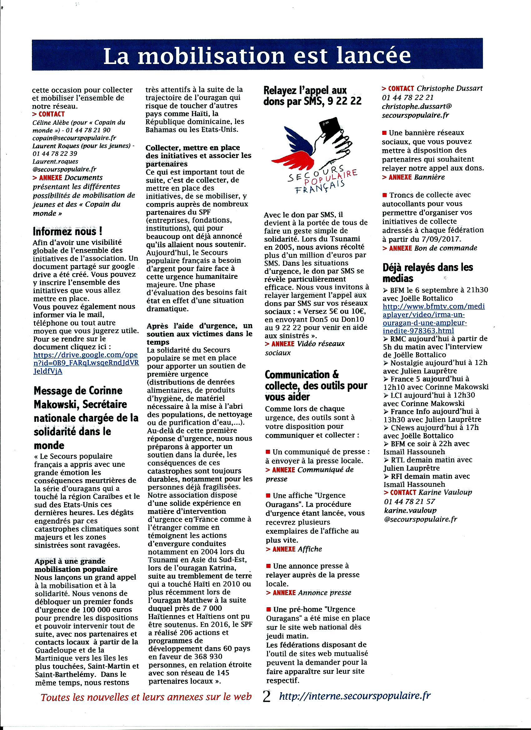 Scan SPF 45 LES NOUVELLES N°1 La mobilisation est lancée 2017 (.jpg