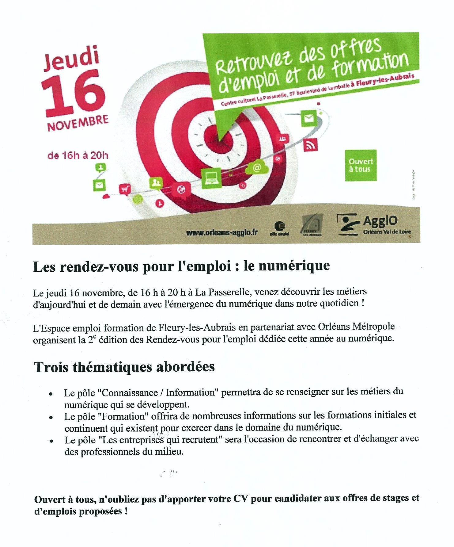 Scan Affiche Les rendez vous pour l'emploi. le Numérique 2017 (.jpg