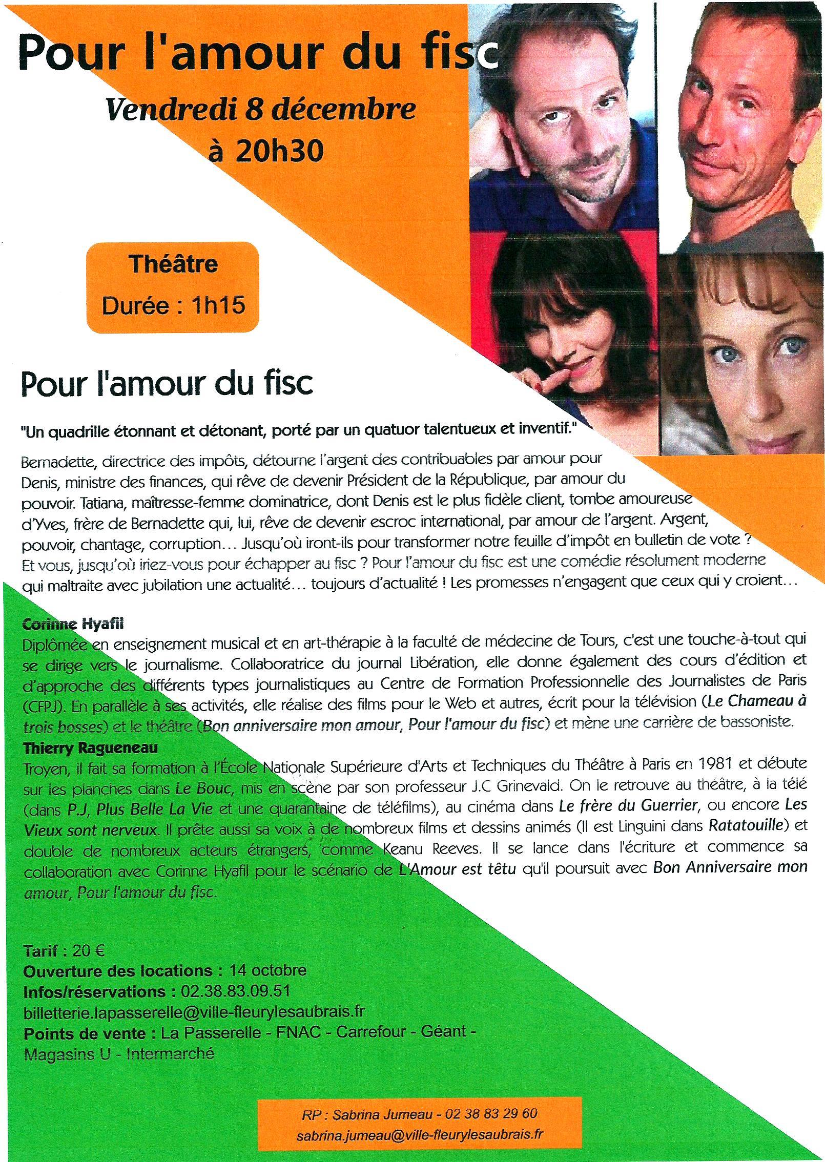 Scan Affiche La Passerelle. Pour l'amour du fisc 2017.(08.12.jpg