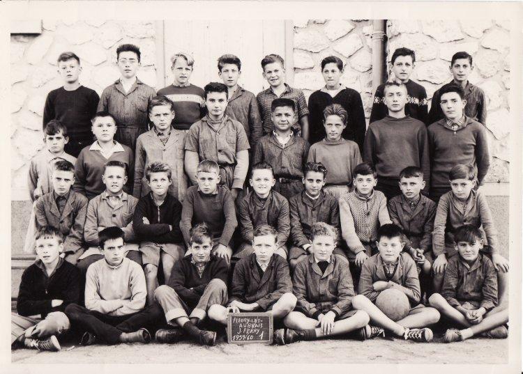 école Jules Ferry classe de Mr Fleury année du Certificat d'étude primaire 1959-1960.jpg