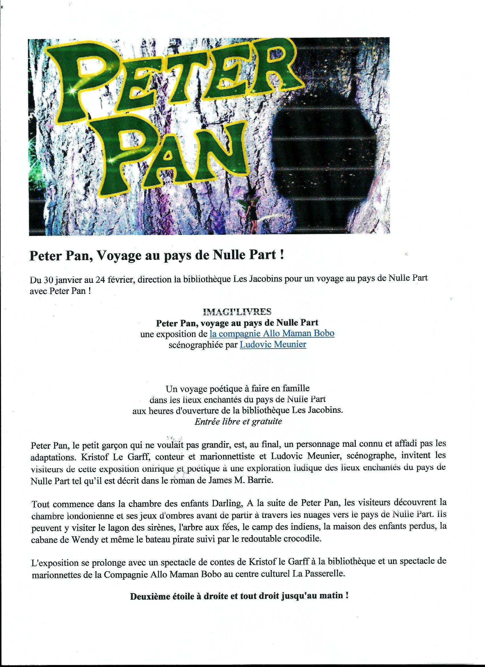 Scan Affiche Peter Pan Voyage au Pays de NullePart ! 2018 ( du.jpg