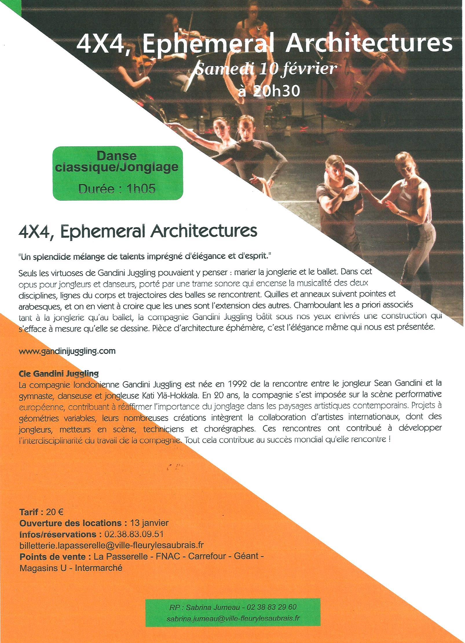 Scan Affiche La Passerelle 2018 4x4 Ephemeral Architectures. (.jpg