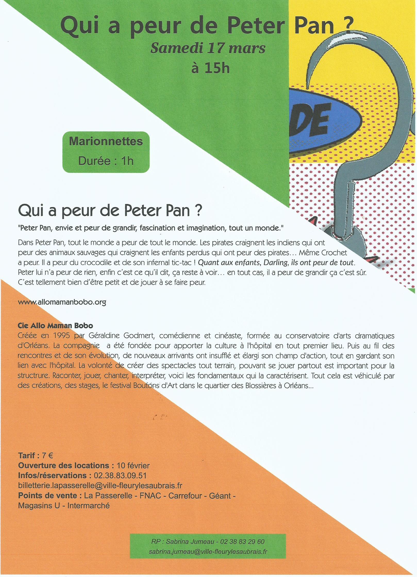 Scan Affiche La passerelle Qui a peur de Peter Pan 2018 N°1(17.03.jpg