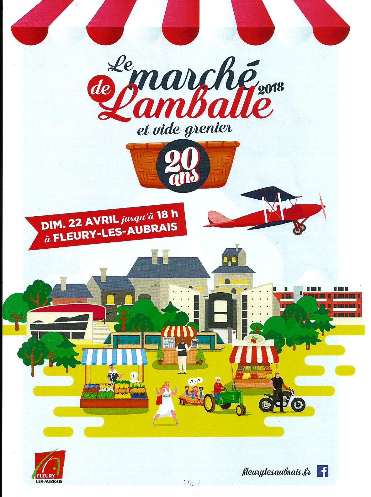 Scan Affiche Le Marché de Lamballe et Vide Grenier 2018 20 ans .jpg