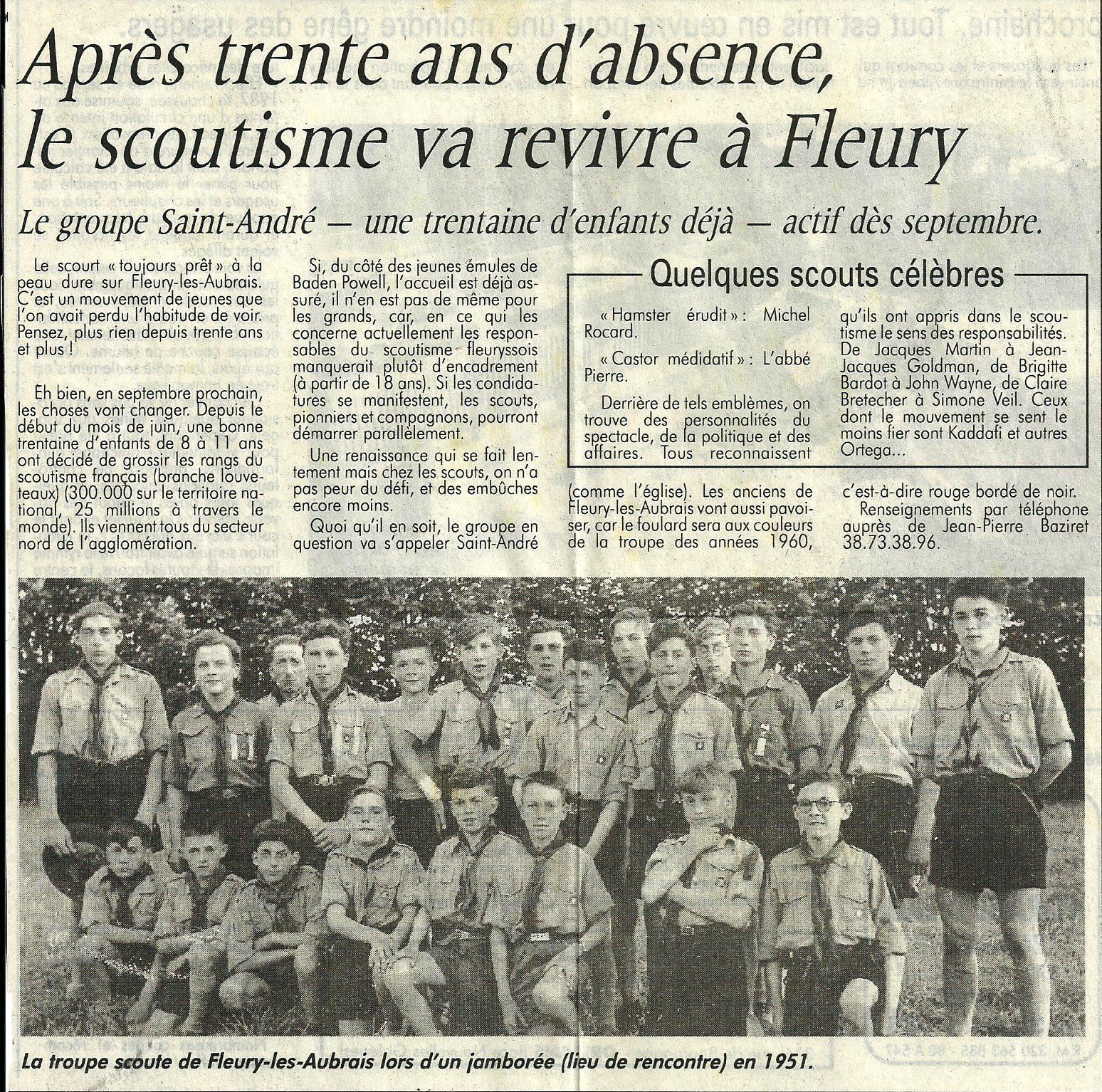 Scan Après trente ans d'absence le scoutisme va revivre à Fleu.jpg