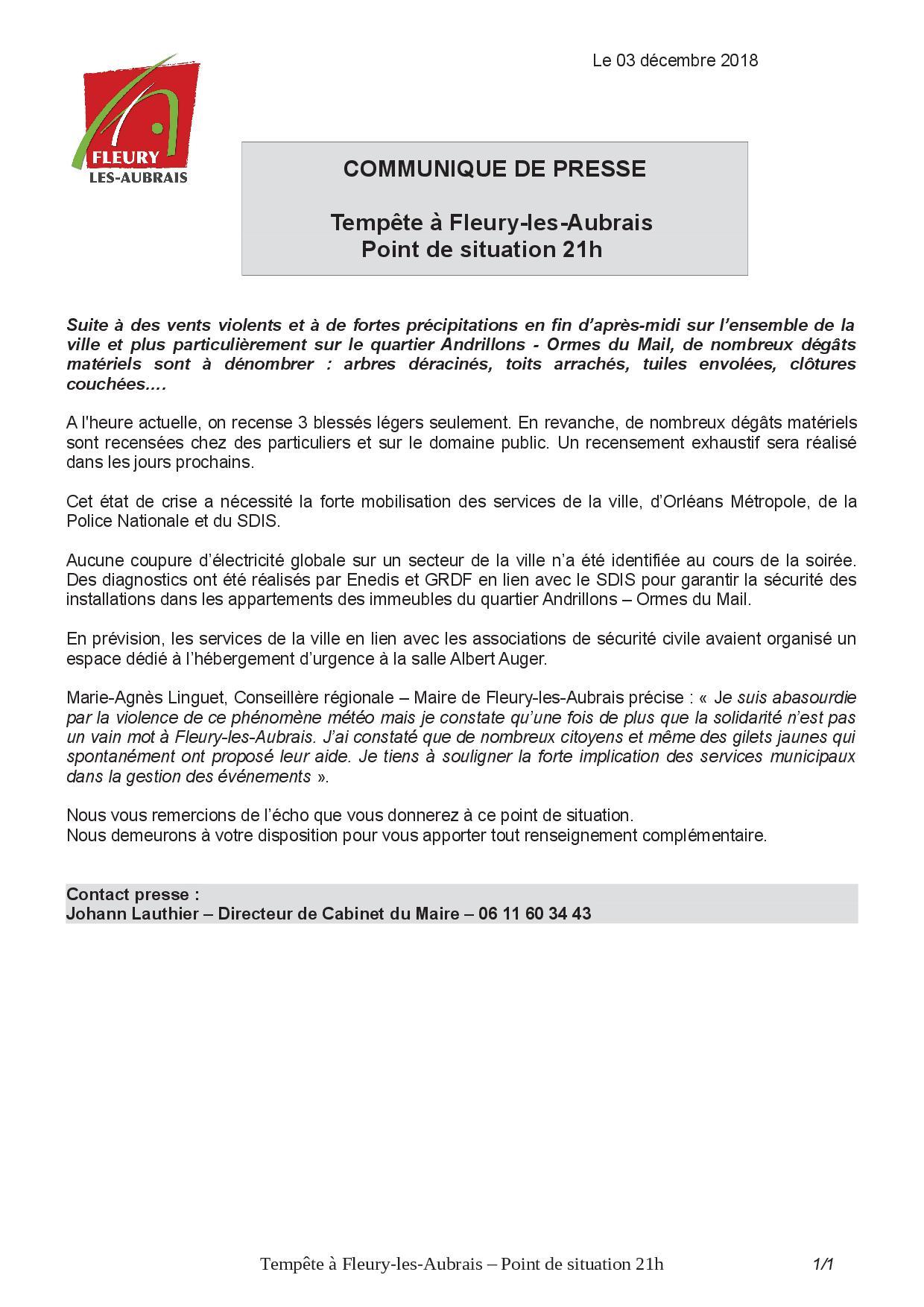 CP Tempête à Fleury-les-Aubrais - Point de situation - 21h.jpg