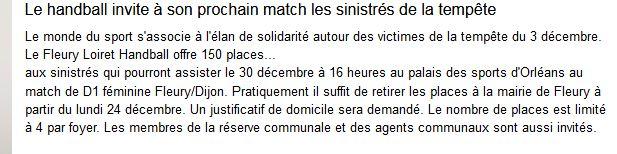 Capture Le handball invite à son prochain match les sinistrés de la tempête 2018.JPG