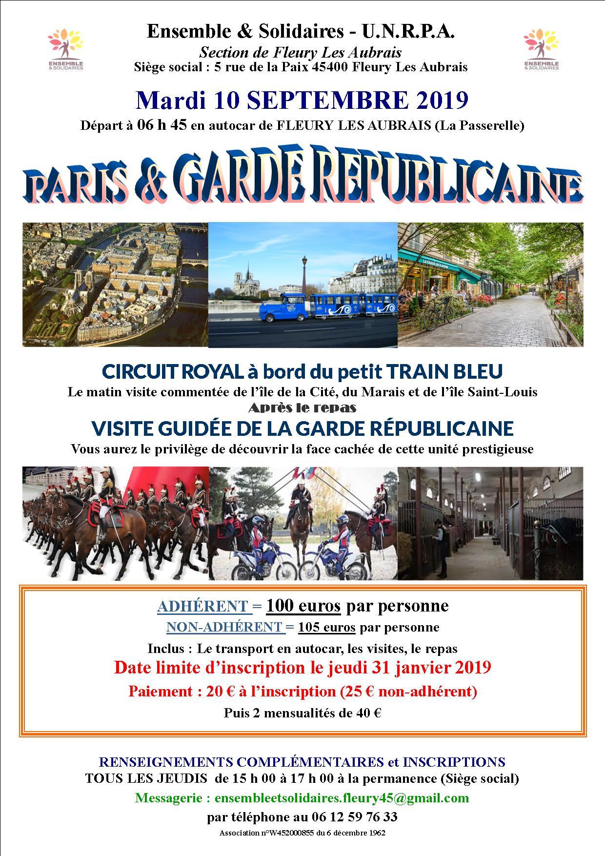 Affiche Paris Garde républicaine 10 09 2019.jpg